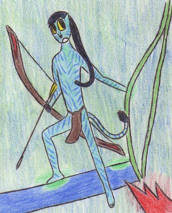 Young Na'vi hunter by Kooskia