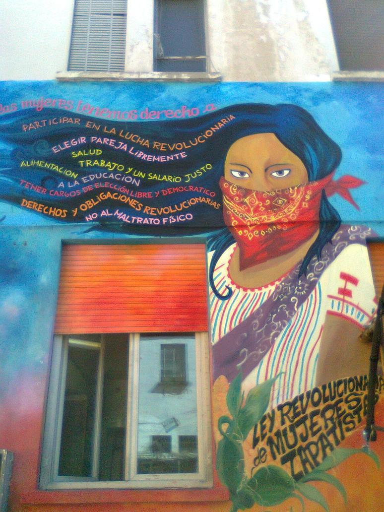 Zapatista women rights by kooskia on deviantart for Mural zapatista