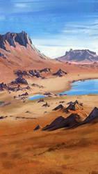 Desert mountains study by ryddzyk
