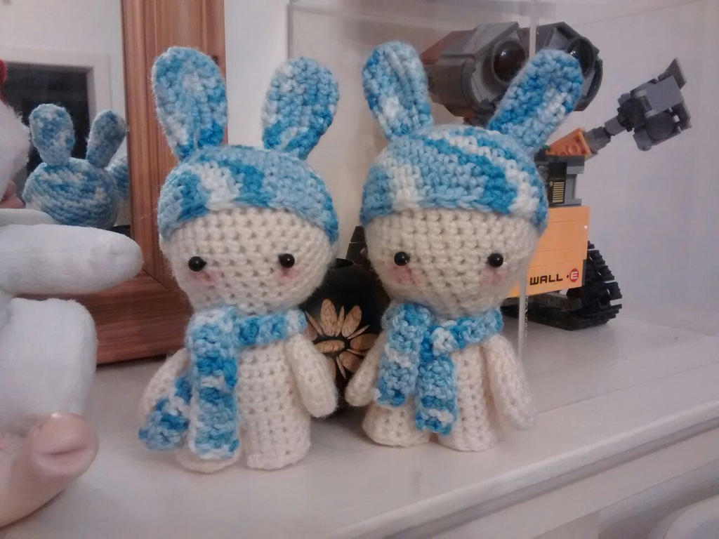 Cute little Winter Rabbits by Silversname