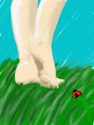 As the Ladybug Watches Her Go