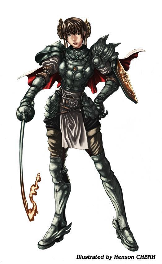 female knight by shonensan