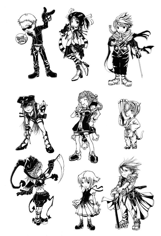 Outlaw Players SD set 2 by shonensan