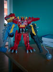 Dino Charge Megazord Ankylo-Pachy Formation