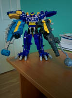 Spino Charge Megazord Ankylo-Pachy Formation by SentaiFive