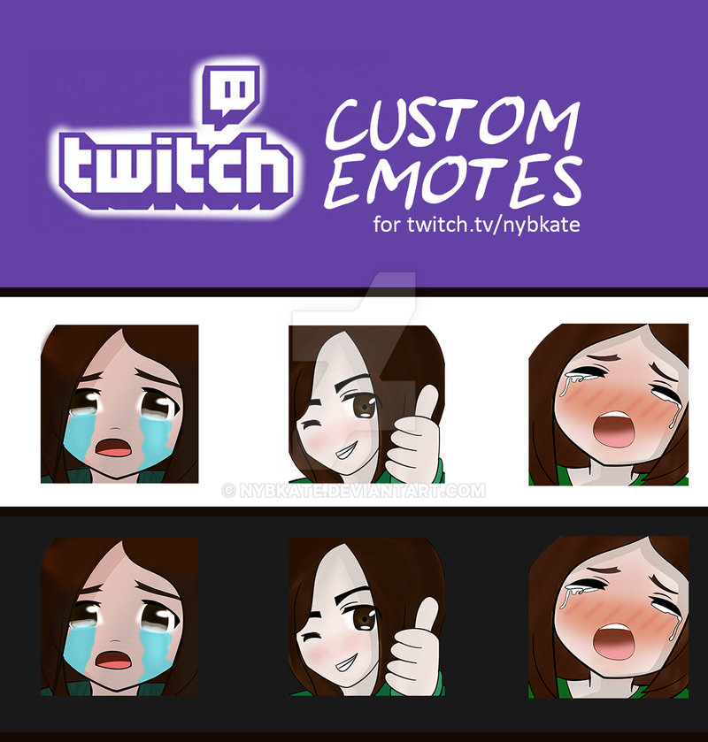 twitch custom emotes by nybkate on DeviantArt