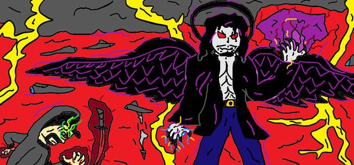 Paint: Iblisan the Fallen Angel and Dark Viper