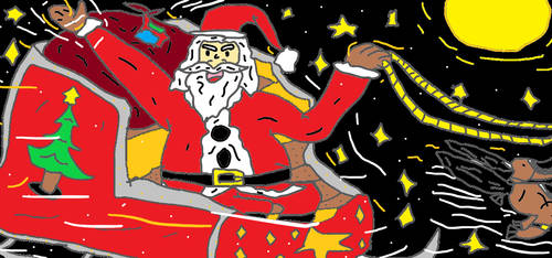 Paint: Santa the Father of Christmas by LonelySitlentAngel