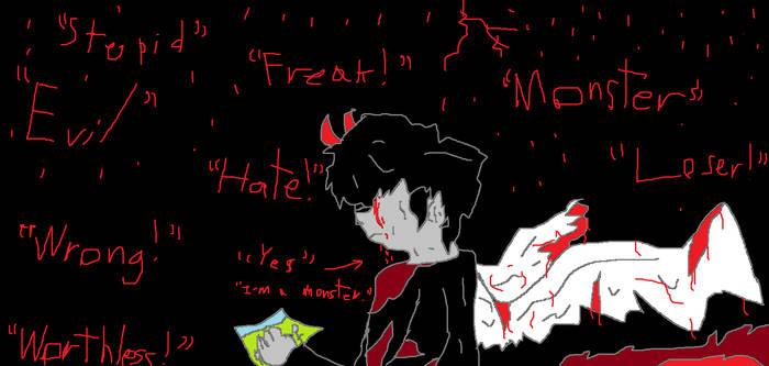 Paint: Broken bird and Sadness
