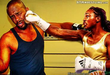 Darrius vs Claressa Sheilds - Man vs Woman Boxing by MixedBoxingArt