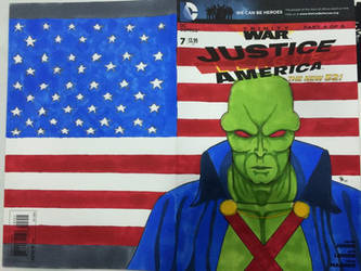 JLA Commission Cover of Martian Manhunter