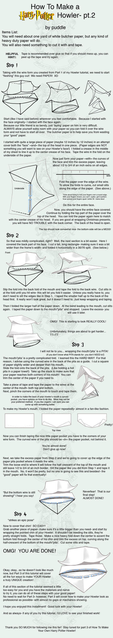 how to make a howler from harry potter