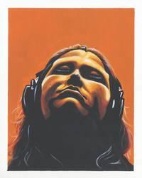 Self-Portrait- I Heart Orange