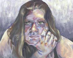 Self-Portrait- Frazetta style
