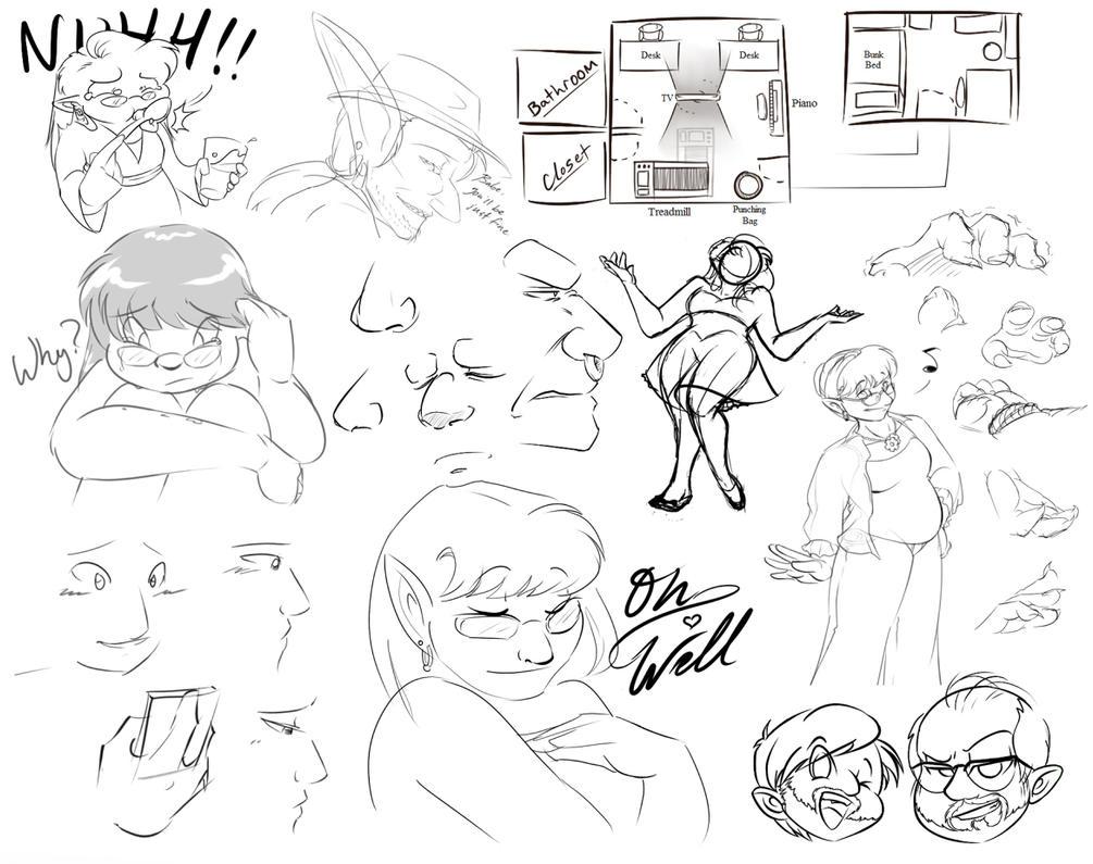 Sketchdump Compilation 1 by SomeRedDame