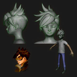 Character Wire an early design sket - Panga Tracer by L0Lock