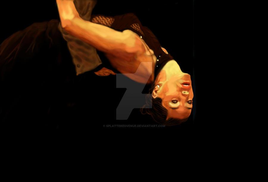 Woman in tango pose by splatteredvenue