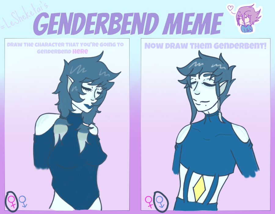 Genderbend Celestite meme by Sallade