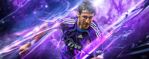 Raul Gonzalez Blanco - SOCCERARTGFX by SoccerArtGFX
