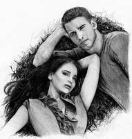 katniss and gale by Mafin10