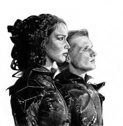 katniss and peeta w.i.p by Mafin10