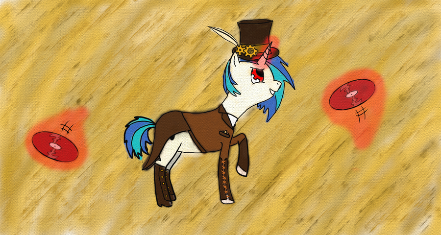 Steampunk Vinyl Scratch by JakeIVS