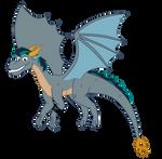Dragon OC: Black Gryph0n by Azur-Wing