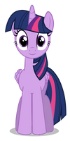 Twilight Sparkle - frontview by azur-wing