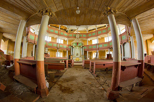 Abandoned evangelical church