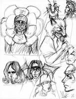 GENESIS-Peter Gabriel sketches