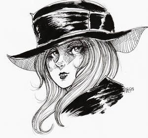 ART01 - Girl With Hat