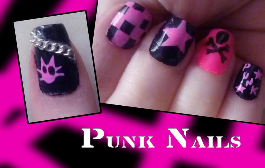 Punk Nails By Uutopicaa On Deviantart