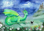 Dragon and a cat