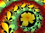 Flower in a Swirly Fractal by Urceola