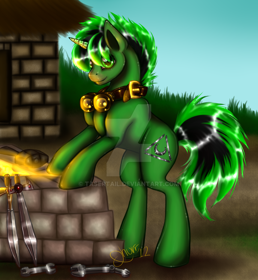 Commission Prize - Shadow Forge by tasertail