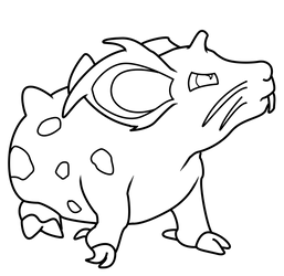 Pokemon Nidoran Lineart