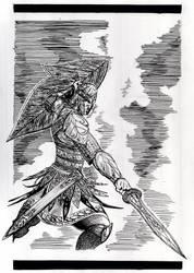 Elven Warrior by Snow-Monster