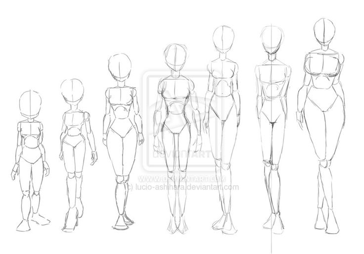 Line Drawing Female : Female body reference by senpaishortie on deviantart