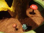 Super, 1-UP, Goomba Mushrooms