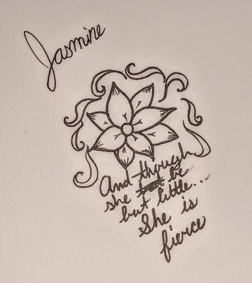 Fallendarkness24 storm hubbard deviantart jasmine flowershakespeare quote tattoo design by fallendarkness24 izmirmasajfo Images