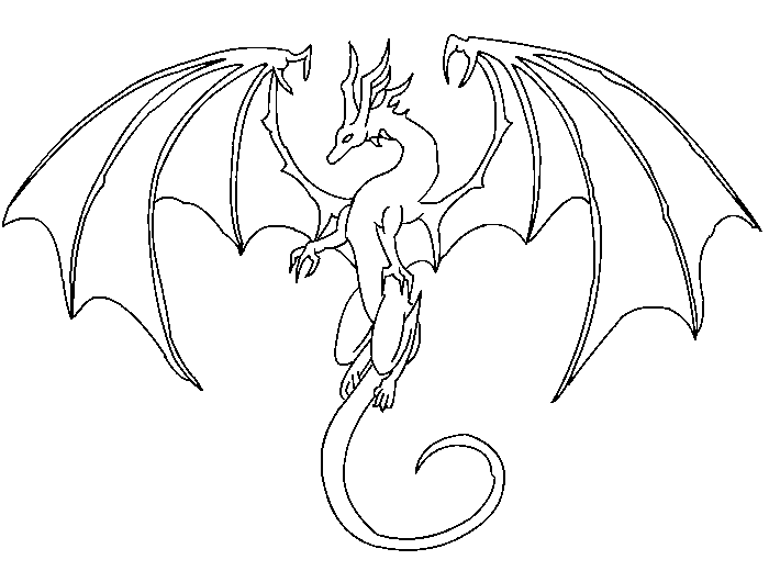 Dragon Lineart : Free dragon lineart by dilotheseadragon on deviantart