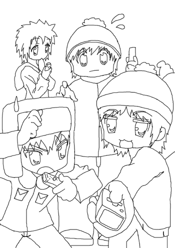 south park coloring pages butters - photo#26