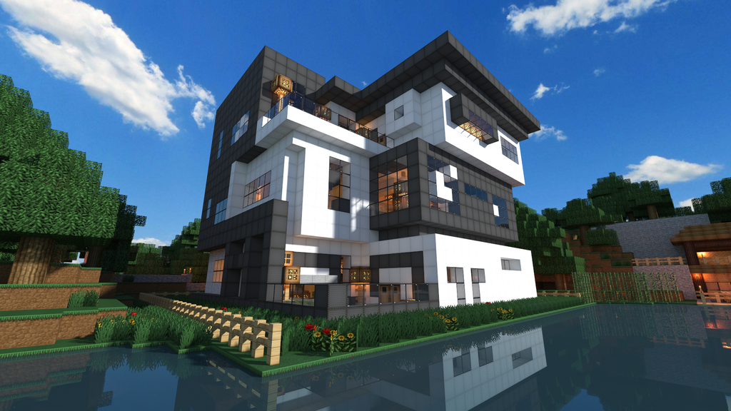 Modern house on metacraft day edition by theshhas on for Modern day houses