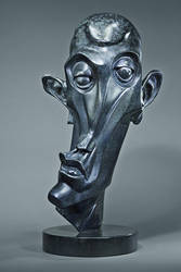 Bronze abstract head