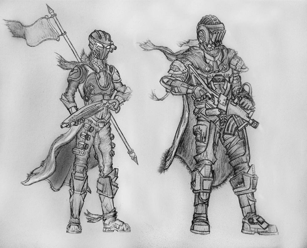 destiny characters hunter coloring pages - photo#25