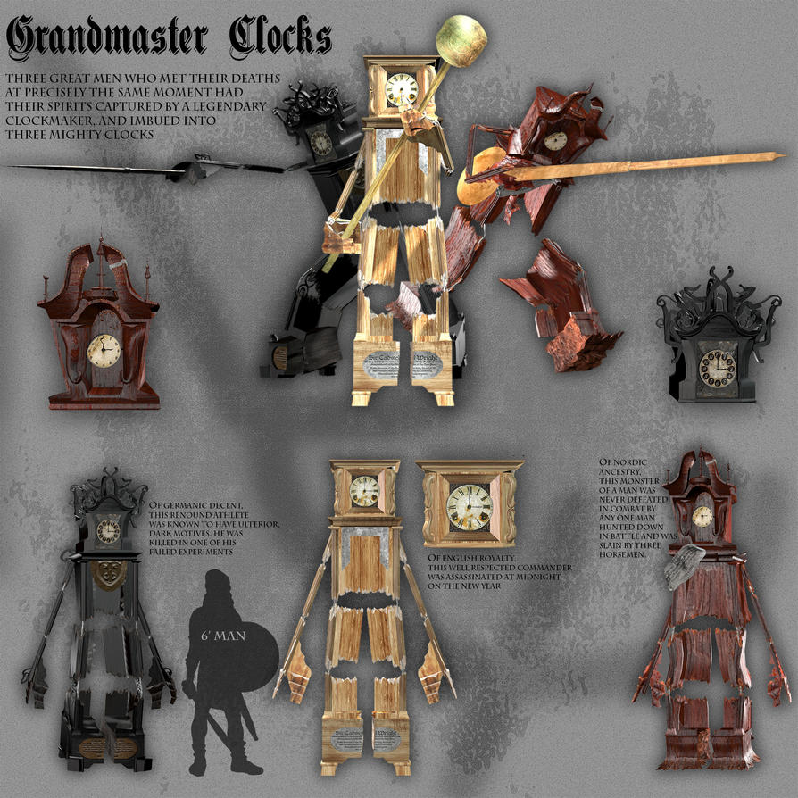 Grandmaster Clocks by Lexinator117