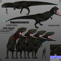 Giganotosaurus Model by Lexinator117