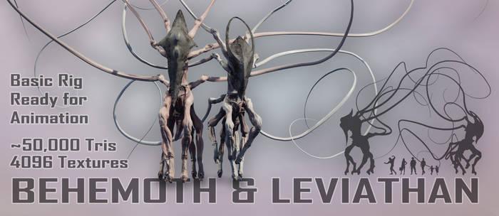 Biblical Beasts Behemoth and Leviathan