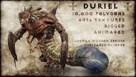 3D Duriel Fan Art by Lexinator117