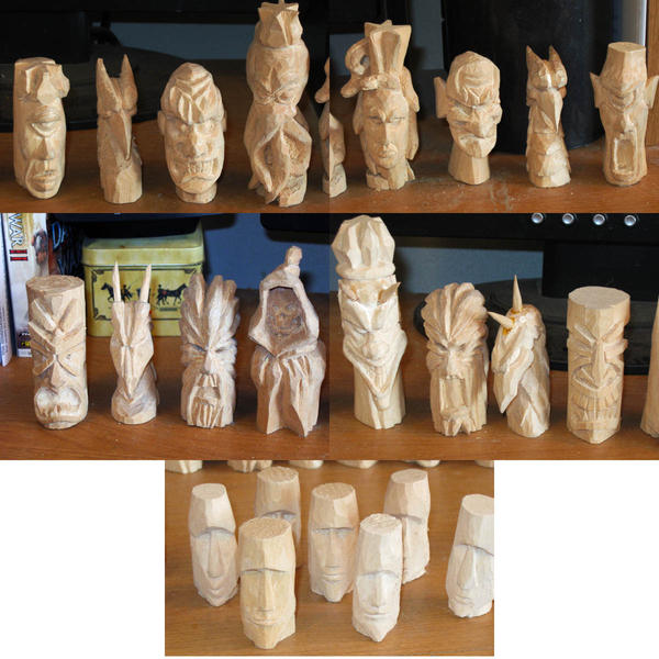 Wooden Chess Pieces By Tahirbrown On Deviantart